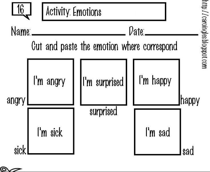 Esta ficha ha sido creada para complementar la enseñanza de las emociones en inglés. El niño aprenderá a reconocer los distintos estados de ...