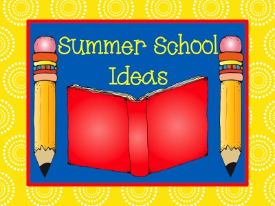 Summer School Ideas - FREEBIES at Teach123