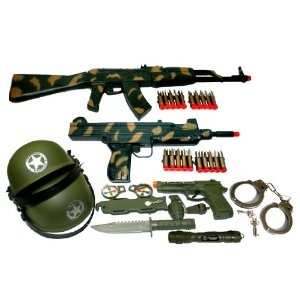 Ultimate Kids Toy Army Combat Set - my son wants to build weapons for the Army or a light saber.
