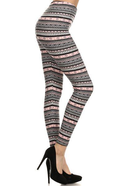 Cotton Candy, cute printed legging, baby pink and olive. Adorable!!