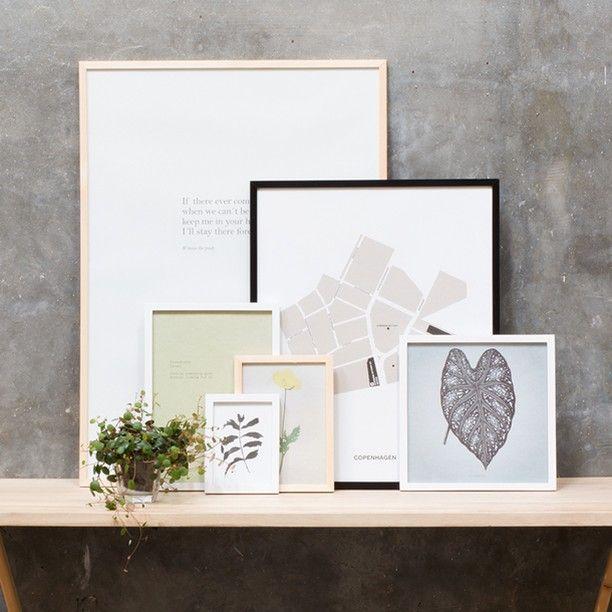 Frame your art and make it shine. Three colours, prices from DKK 19,90 / SEK 27,90 / NOK 27,70 / EUR 2,79 / ISK 583 #frame #posters #art #decorative #decoration #walls #inspiration #sostrenegrene #søstrenegrene #grenehome