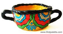 Pinch pot Mexican Talavera pottery