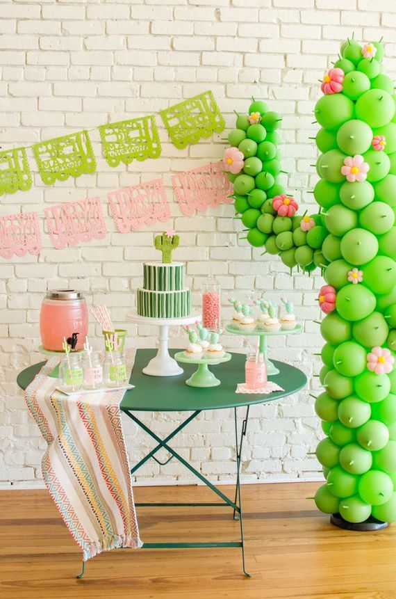 Cactus themed Cinco De Mayo party ideas (100 Layer Cakelet)