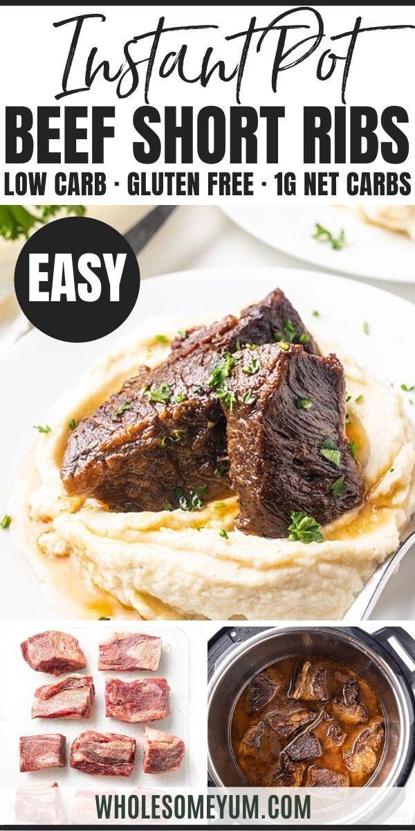 Easy Instant Pot Beef Short Ribs Recipe Paleo Short Ribs Recipe Rib Recipes Beef Short Rib Recipes