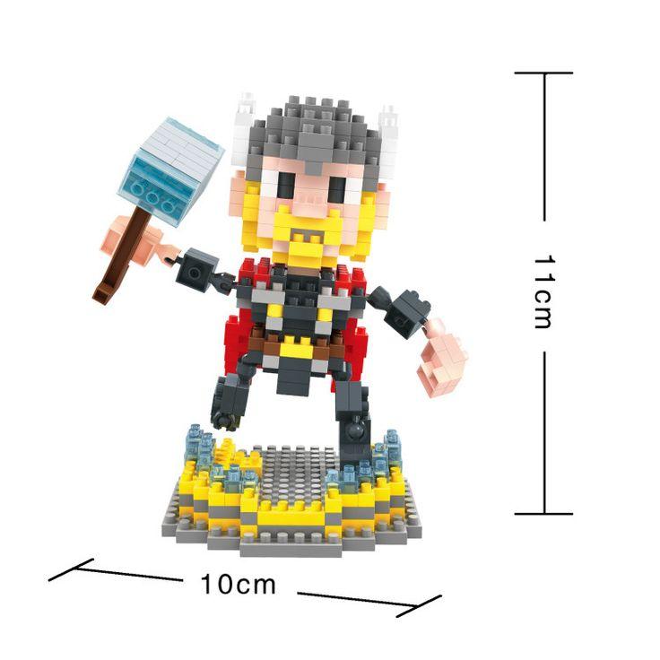 BOB DIY Blocks Marvel Super hero Thor 9527
