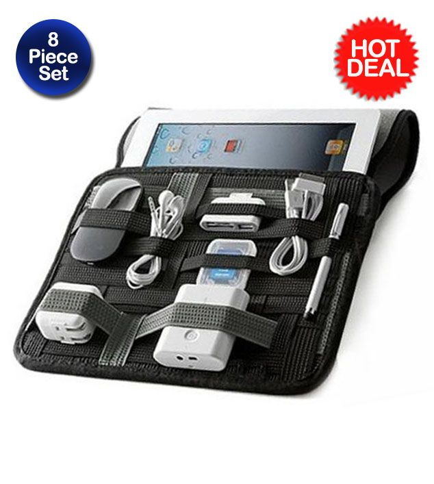 8 Piece Set: iPad Accessory Kit and Organizer - $35.00