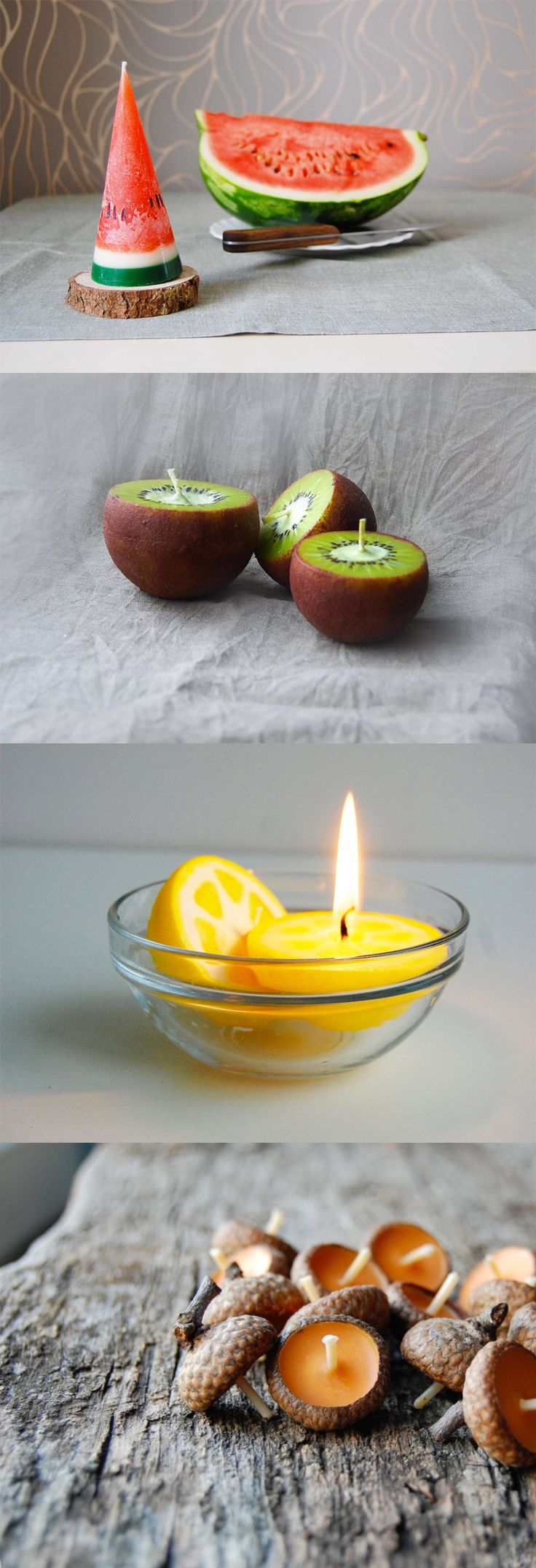Handmade Fruit Candles by LessCandles