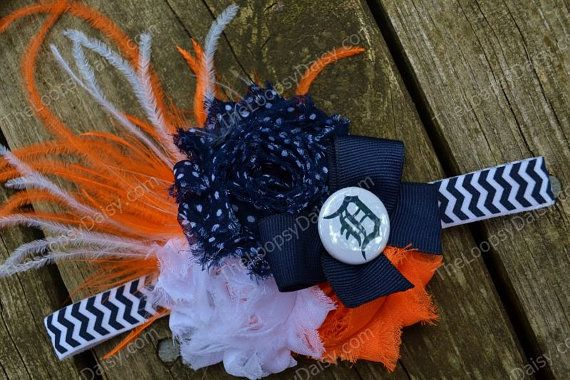 Detroit Tigers Headband Detroit Tiger baby Baby by TheLoopsyDaisy, $11.95