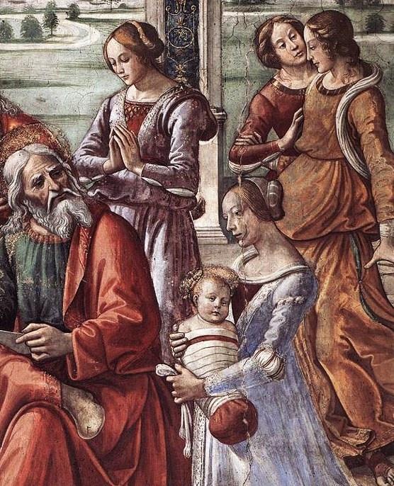 Domenico Ghirlandaio (Italian artist, 1449–1494) Zacharias Writes Down the Name of his Son Ghirlandaio Tornabuoni Chapel