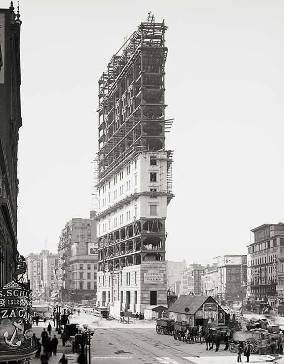 Times Building under construction, Times Square, New York, 1904, Vintage Photo  this is so cool to see the start of times sq.  wow o wow..