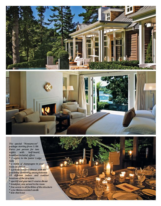 Honeymoon: Huka Lodge by Relais & Châteaux in New Zeeland.  #honeymoon #travel #newzeeland  #fashion #look #style #wedding #bride #ideas