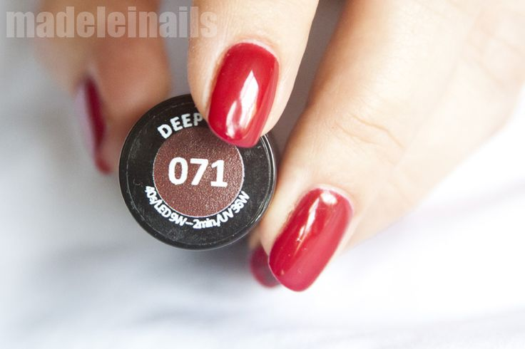 071 deep red semilac