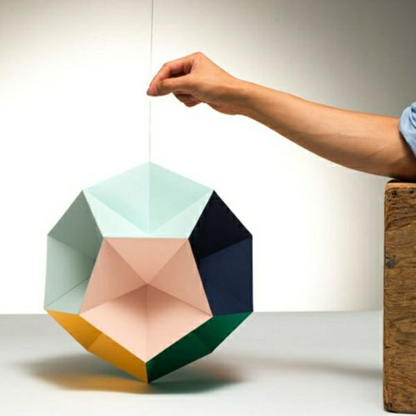origami lampenschirm farbpapier falten pastelltöne