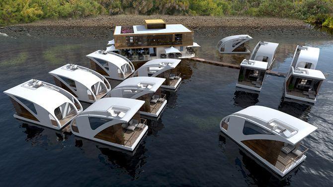 O futuro está nas casas flutuantes - Uma ideia dos escritórios Salt & Water
