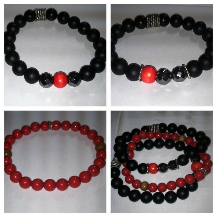 Best Black Onyx And Swarovski Crystalized Red Pearls Mens 640 x 480