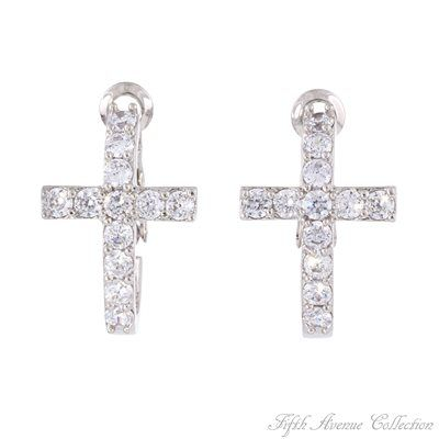 Rhodium Earring - Keep Faith - Australia - Fifth Avenue Collection - Jewellery that changes the way you see fashion