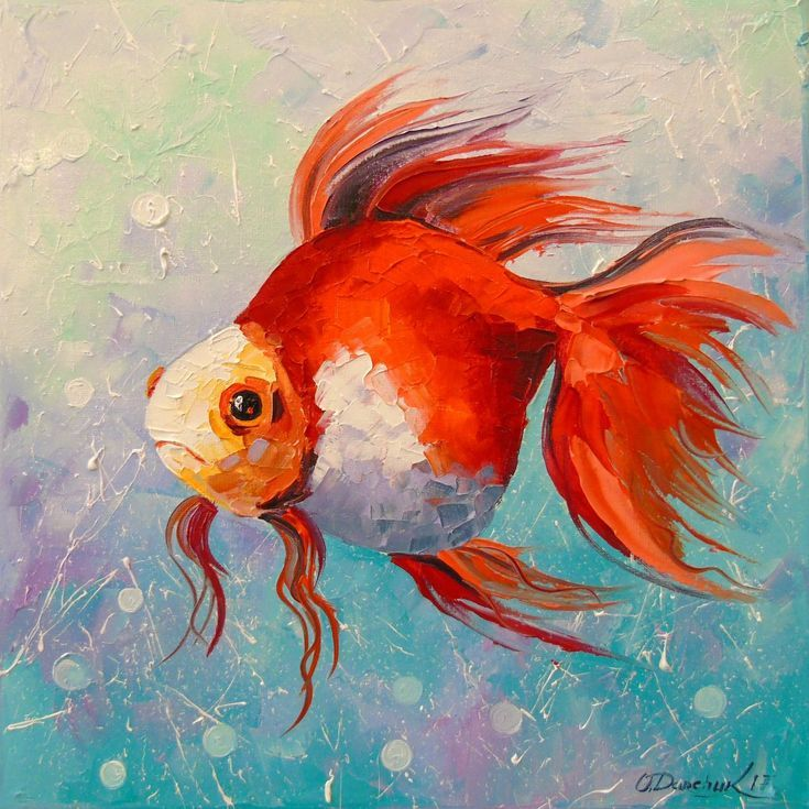 Buy Goldfish, Oil painting by Olha Darchuk on Artfinder. Discover thousands of other original paintings, prints, sculptures and photography from independent artists.