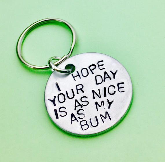 Romantic gift Aniversary gift Boyfriend keychain UK as my