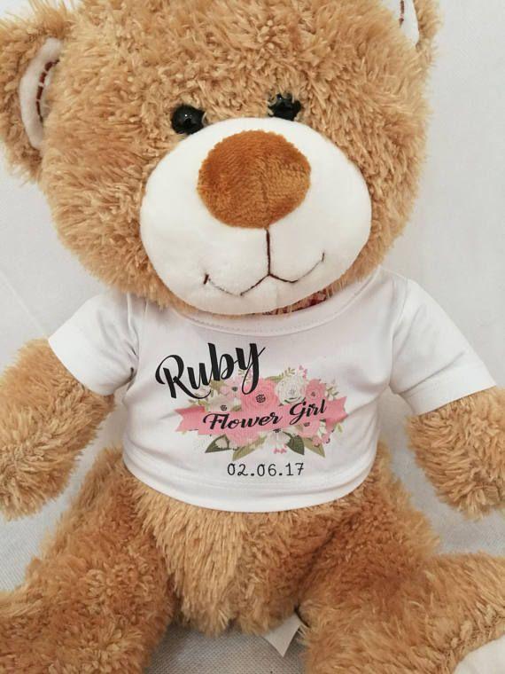 Personalised Flower Girl Gift Personalised Teddy Bear Bridesmaid