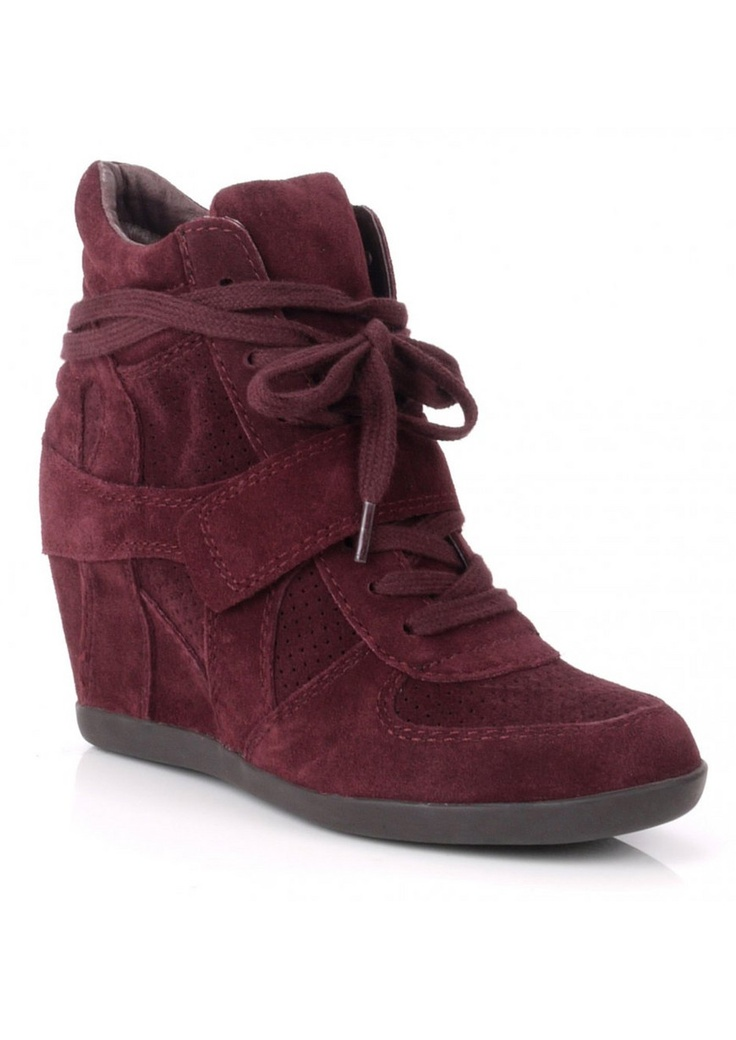 Ash Bowie wedge trainer in prune