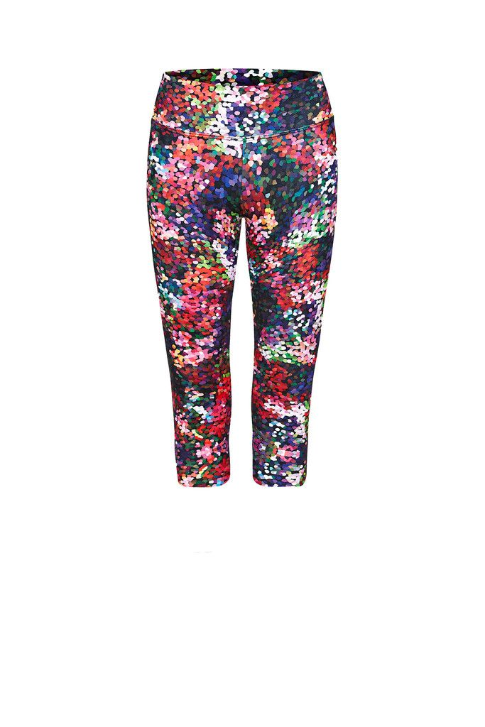 Berry Fizz Printed Legging - Crop – Dharma Bums Yoga and Activewear