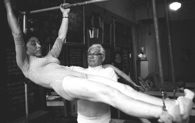Pilates workout with Joseph Pilates. #pilates