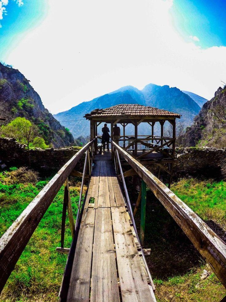 Overlooking Matka Canyon utside Skopje in Macedonia