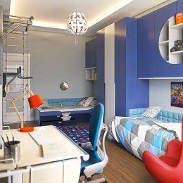 Студия LESH | Детская комната для двух мальчиков оформлена в космическом стиле, чтобы разукрасить жизнь мальчишек