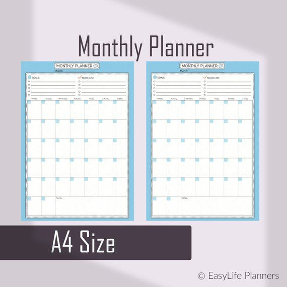 Monthly To Do List Binder Inserts Diy Planner Monthly Planner
