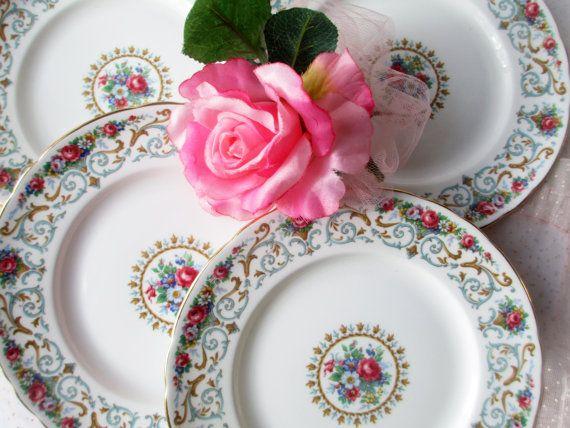 Vintage Tuscan Orleans English Bone China Salad by thechinagirl