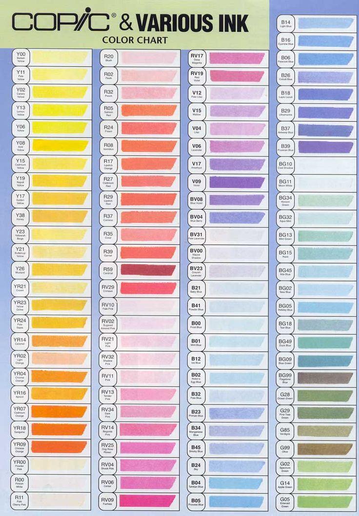 copic markers color chart | Copic Original Marker - Manga & Cartoon Supplies