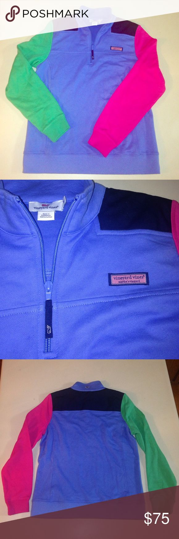 Vineyard Vines Quarter Zip Sweater Brand new, with out tags. Unique Vineyard Vines multicolor zip up sweatshirt. Awesome piece! Vineyard Vines Tops