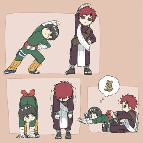 3167 best Anime and Game images on Pinterest | Anime ... Gaara And Rock Lee