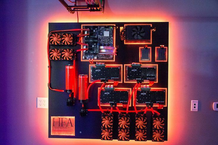 Wall mounted pc.