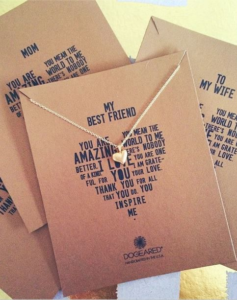 I love dogeared necklaces. Getting this one for my little