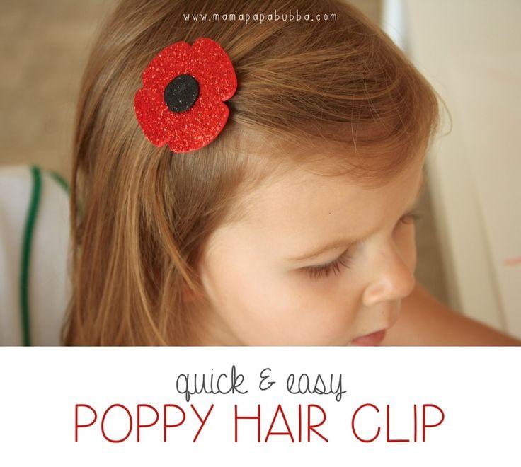 {Quick & Easy} Poppy Hair Clip | Mama.Papa.Bubba..jpg