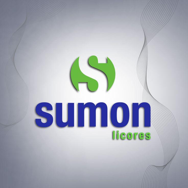 Logotipo reactualizado y Mejorado. Sumon Licores.