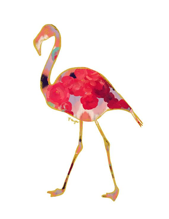 Flamingo Animal Art Print, Number One...Oh my god I need this