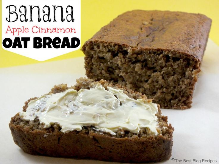 Banana Apple Cinnamon Oat Bread (with coconut oil). used a bit less ...