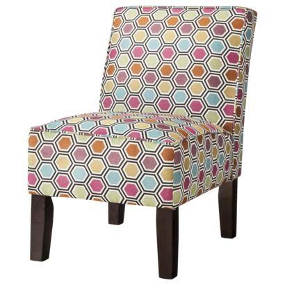 Burke Armless Slipper Chair - Multicolored Geometric