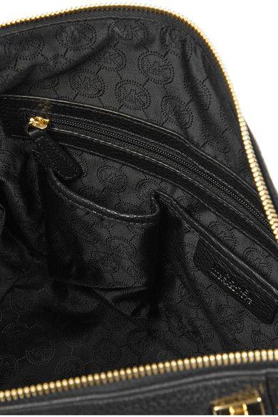 MICHAEL Michael Kors - Cynthia Medium Textured-leather Tote - Black - one size