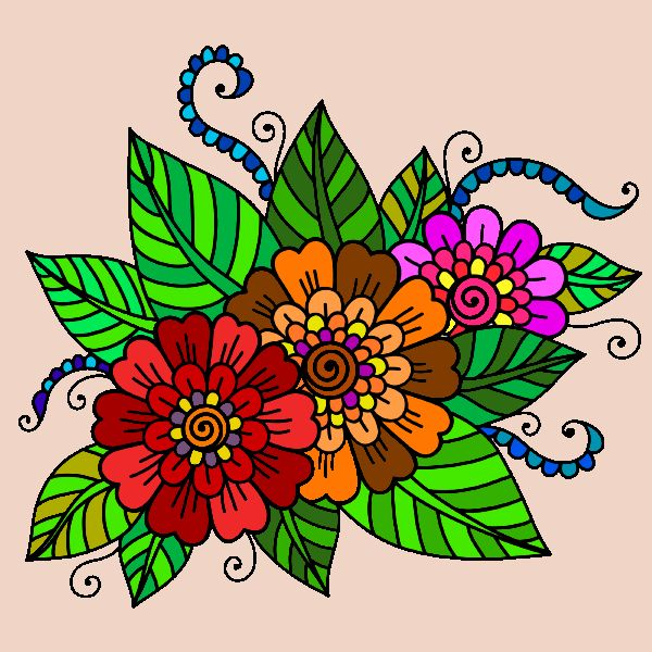 Mandalas para colorear: captura de pantalla