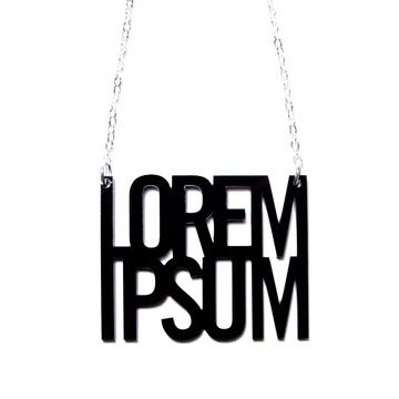 Lorem Ipsum Necklace, $22, now featured on Fab.