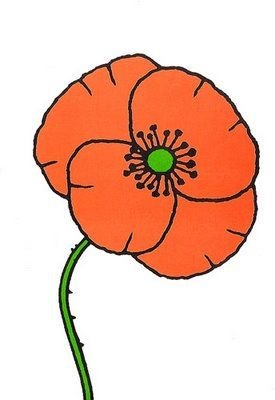 Simple drawing of a poppy
