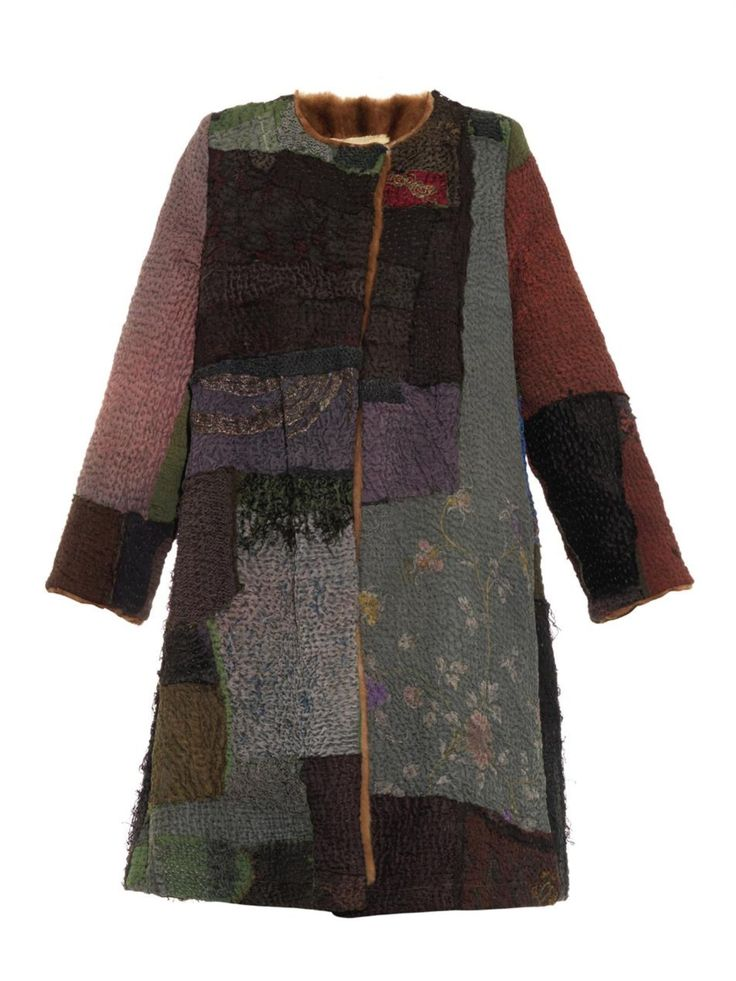 Vintage patchwork fur-lined swing coat | By Walid | MATCHESFASHION.COM US