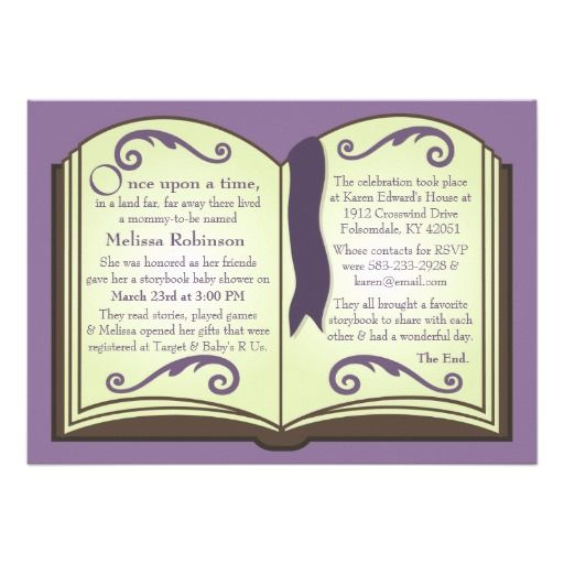 344 best book themed baby shower invitations images on pinterest storybook baby shower invitations filmwisefo