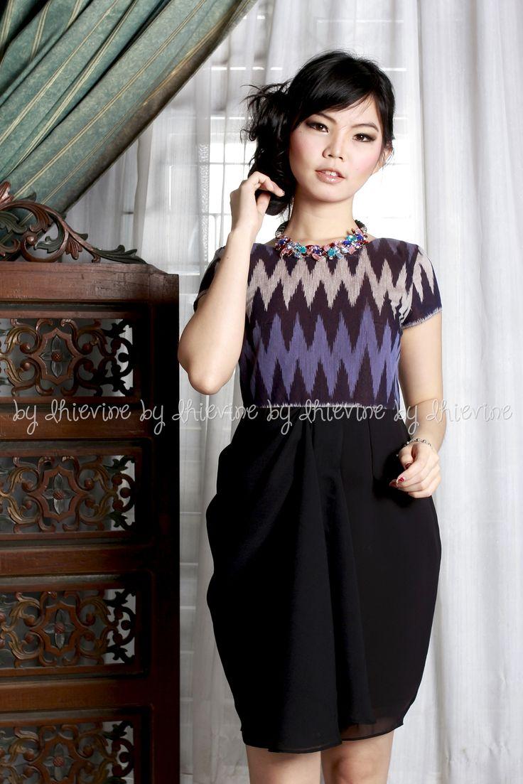 Menur Rang-rang Purple Dress | Drapery Dress | dress ikat | DhieVine | Redefine You