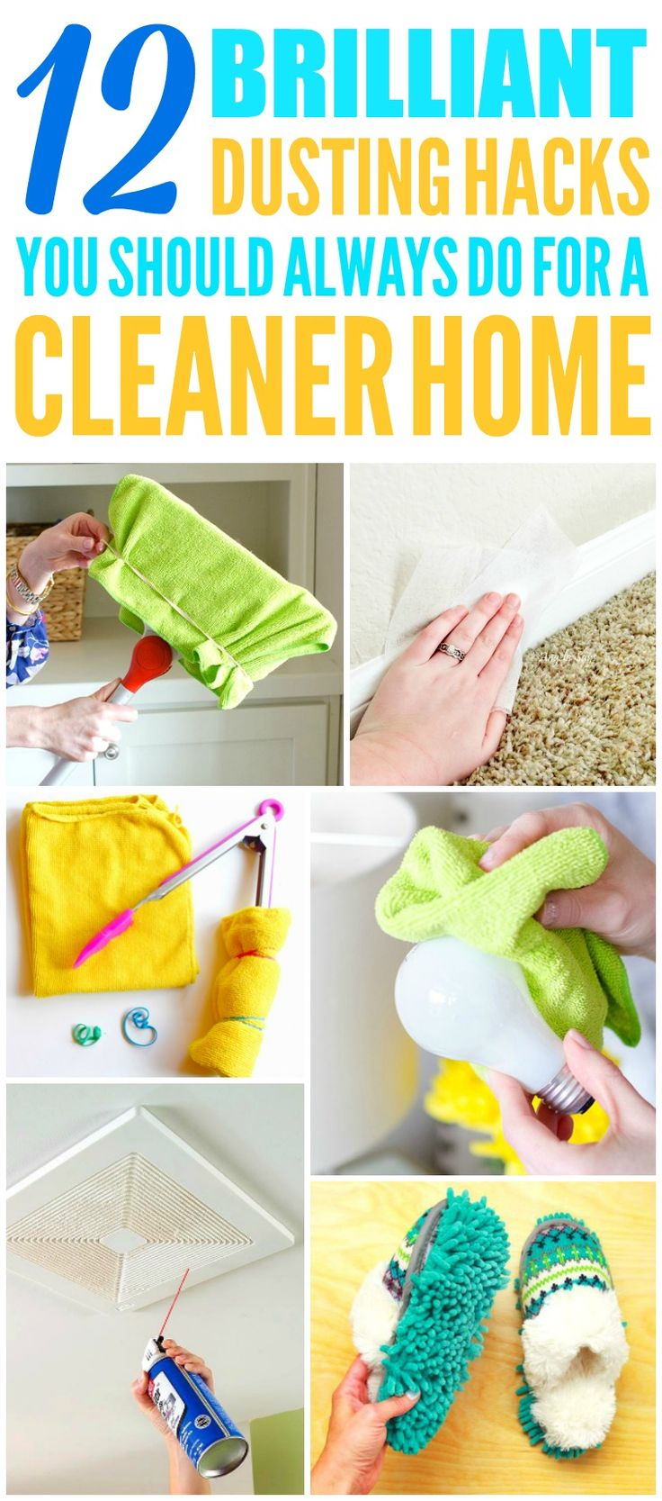 These 10 brilliant and easy dusting hacks are THE BEST! Now I have some AMAZING ways to clean my home! These cleaning tips and hacks make cleaning my house so much quicker and easier! Definitely pinning!
