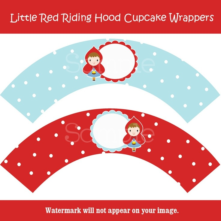 Little Red Riding Hood Cupcake Wrappers