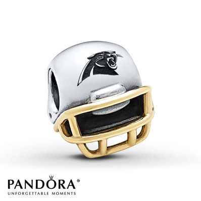 Pandora Charm Carolina Panthers  Sterling Silver/14K Gold